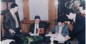 12博备用网集团董事长郭道鹏与德国西门子公司签署合作协议-1